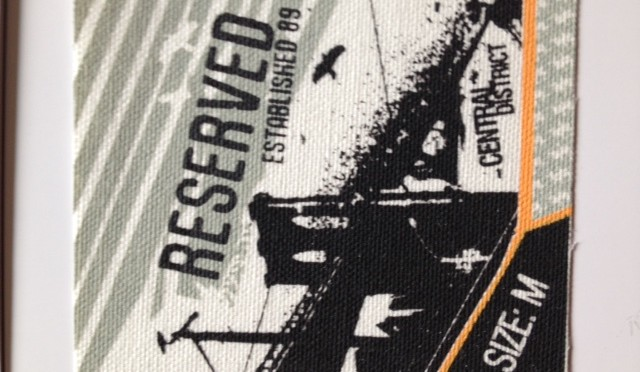 Canvas printed cotton labels