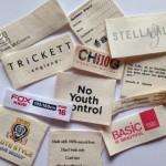 Cotton garment labels