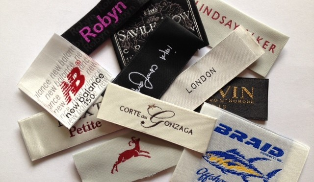 Designer Woven Satin Labels for Clothing
