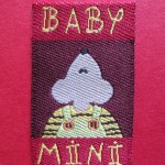Damask woven labels
