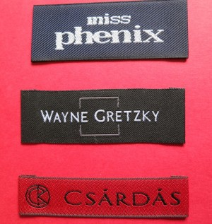 woven damask labels