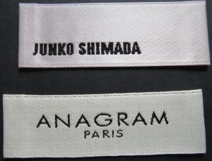 Satin Garment labels