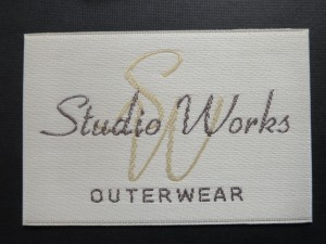 Satin woven clothes label