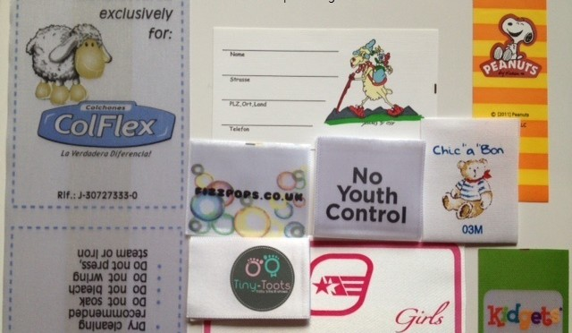 Printed Designer Kids clothing labels